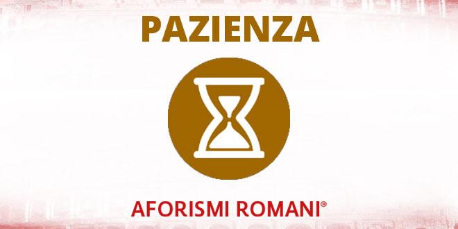 aforismi romani sulla pazienza