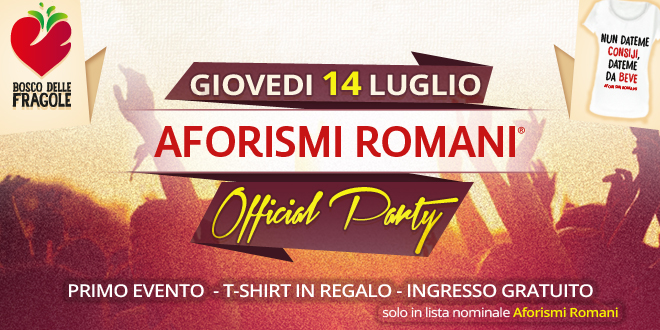 Partecipa all'Official Party di Aforismi Romani!