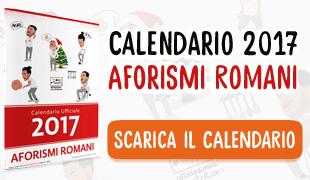 scarica il calendario di aforismi romani