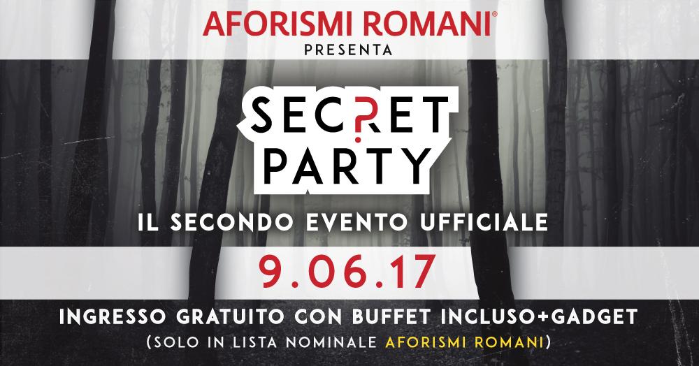 Partecipa al secondo Official Party di Aforismi Romani!