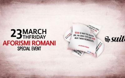 Partecipa al terzo evento di Aforismi Romani